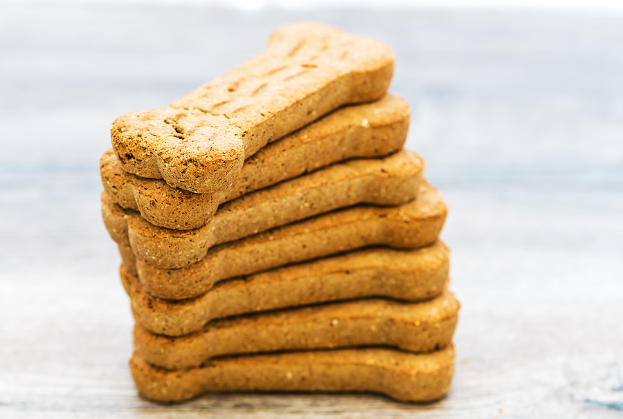 Stack Of Bone Shaped Dog Biscuits © bigstockphoto.com / Simone OBrien